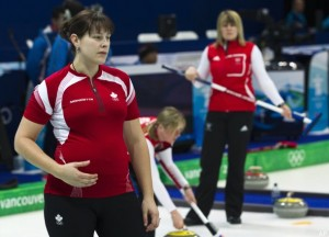 pregnant curling