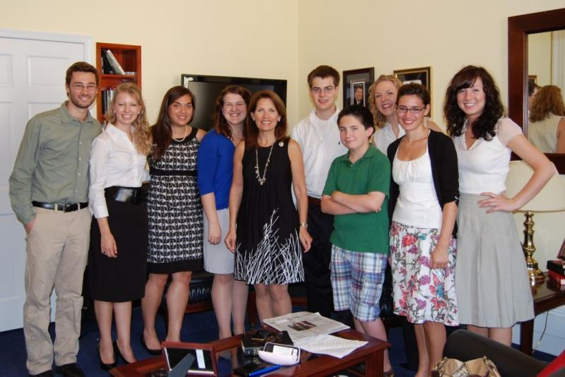 SBA Interns w/ Michele Bachmann