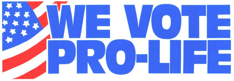 we vote pro-life
