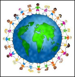 holding hands around the world