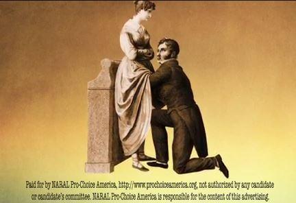Screenshot from NARAL anti-SBA List ad