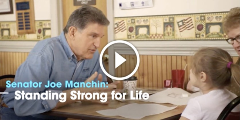 National & State Pro-life Activists Thank Senator  Joe Manchin for Standing Strong on Filibuster